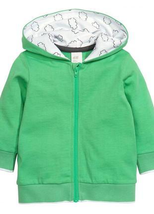 Новое зеленое худди для мальчика, h&m, 0381866