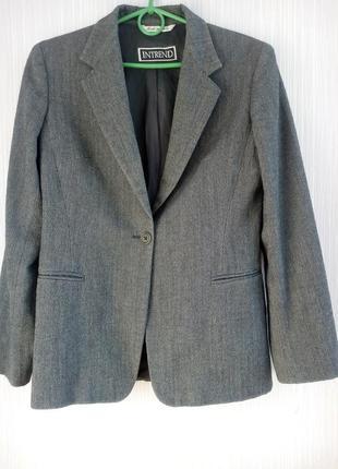 Акция 1+1=3 трендовый серый оверсайз пиджак