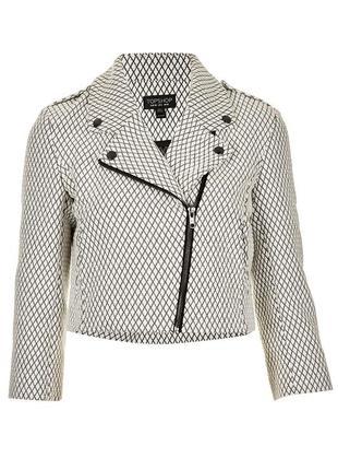 Укороченная косуха куртка байкерская стеганая текстильная