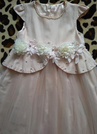 Нарядное бальное выпускное платье для девочки