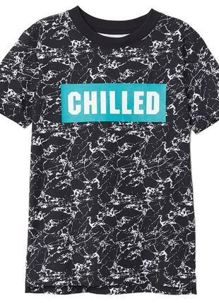 "Новая футболка ""chilled"" для мальчика 14-15 лет, h&m, 0596329"