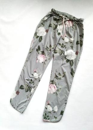 Домашние брюки в пижамные стиле в цветочный принт next