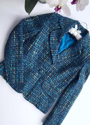 Женский жакет голубого цвета бренд