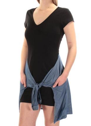Задорное молодежное платье, с имитацией завязанной рубашки на бедрах(сша)  m