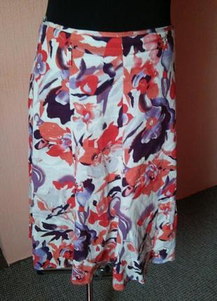 Красивая летняя льняная юбка раз.20