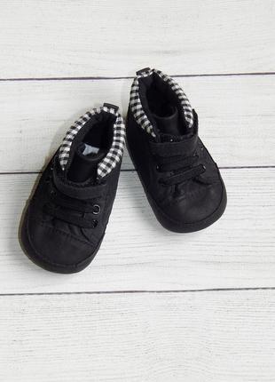 Новые пинетки-кеды-кроссовки f&f, для мальчика 0-3 месяцев. стелька-10 см.
