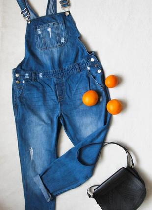 Стильный джинсовый комбинезон от pep&co, размер xl-xxl