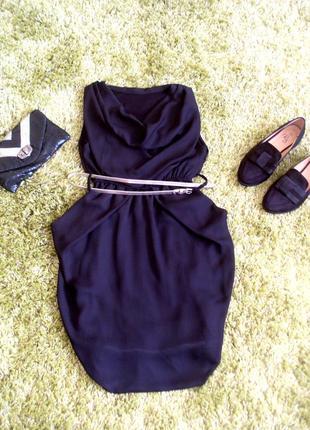 Маленька шифонова  чорна сукня