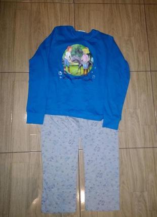 Качественная хлопковая пижама 146/152 bibi&tina германия