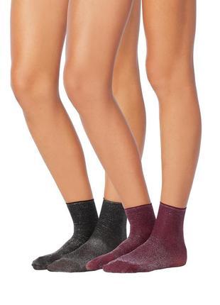 Итальянские носки с глиттером 2 пары в упаковке tezenis