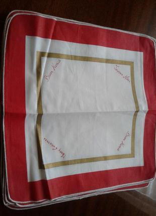 Салфетки столовые, полотенца, хлопок, 12 штук