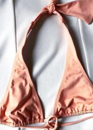Роскошный премиум персиковый верх купальника  триангл  brazil 75 a asos тренд 2019
