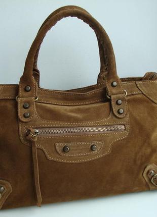 Італійська фірмова замшева сумка vera pelle.