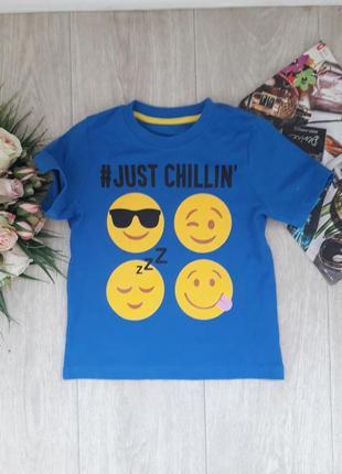 Классная футболка со смайликами 5-6 лет lily & darr