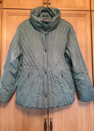 Красивая теплая и комфортная куртка оттенка тиффани olsen 18pp