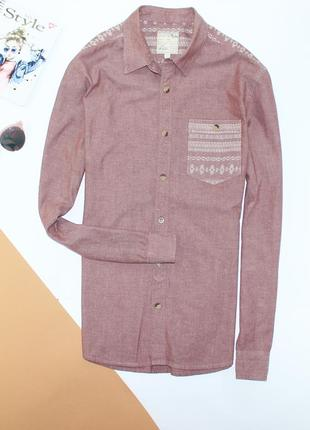 Классная котоновая рубашка в с принтом burton
