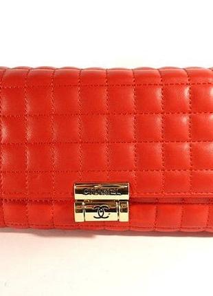 Клатч - сумочка женская кожа pu красная