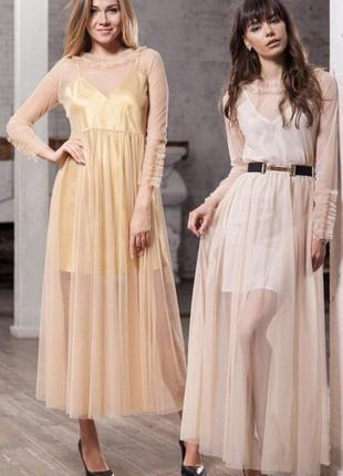 Прозрачное платье-накидка