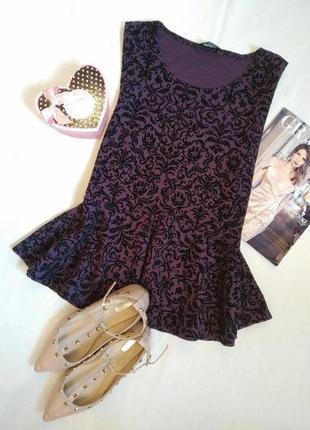 Блузка с воланом внизу/кофточка с баской/блуза/топ