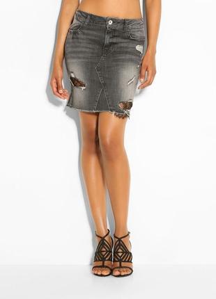Стильная джинсовая юбка guess, 31p или m-l