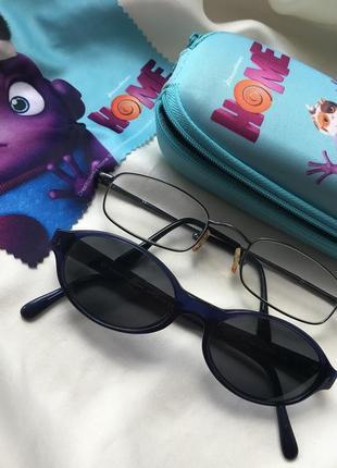 Детские брендовые солнцезащитные очки 🕶 в футляре + очки с защитой от экрана в подарок 🎁