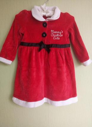Новогоднее платье 12-18 мес