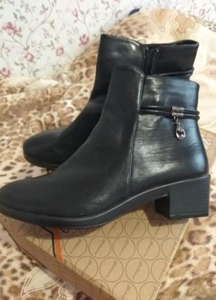 Черные женские полуботинки ботинки большой размер демисезонные