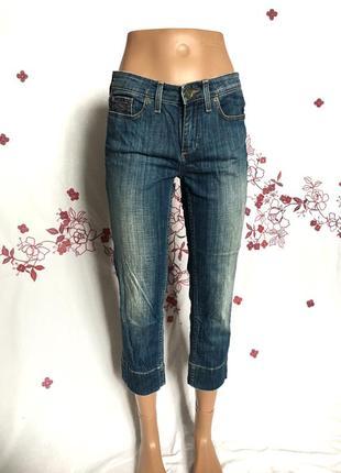 Качественные оригинальные выцветшие укороченные джинсы  1+1=3 🎁