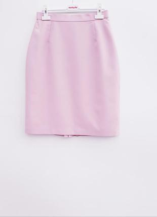 Нежно розовая юбка миди красивая юбка нежная