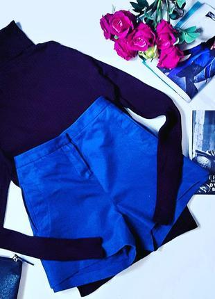 Яркие стильные синие шорты lacostе.