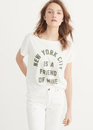 "Белая футболка ""new york"" abercrombie & fitch"