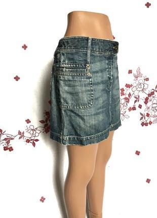 Стильная джинсовая мини юбка деним  1+1=3 🎁3