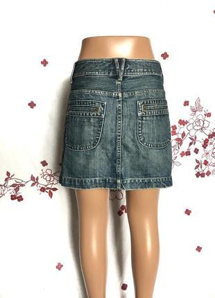 Стильная джинсовая мини юбка деним  1+1=3 🎁4