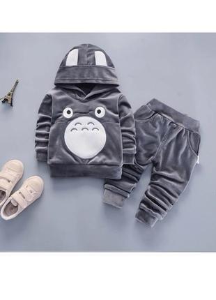 Крутой велюровый костюм демисезонный тоторо аниме япония костюмчик