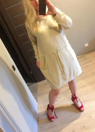 Платье в спортивном стиле цвета camel от gina benotti р.л-хл
