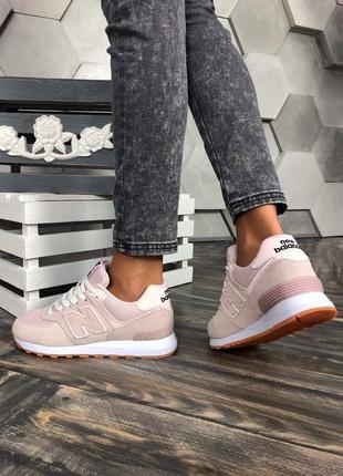 Крутые кроссовки new balance в розовом цвете