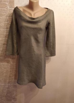 Тонкое платье туника promod 100% лен, франция