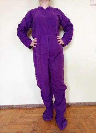 Теплая флисовая пижама кигуруми домашняя одежда
