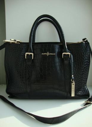 Кожаная  оригинальная  сумка-шоппер  jasper conran. англия
