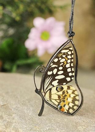 Кулон бабочка уникальный подарок девушке романтический подарок бохо подвеска