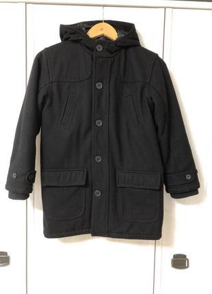 Утепленное классическое пальто marks&spencer на 9-10 лет рост 140-146 см.