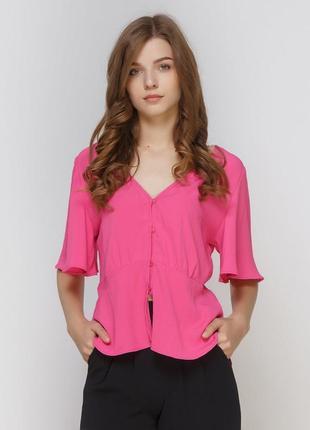 Блуза малинового цвета bershka
