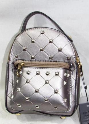 Маленький рюкзак-клатч 561 темное серебро/бронза