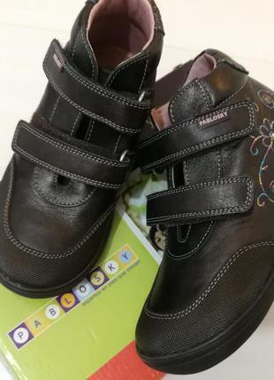 Pablosky ботинки кожа натуральная 28-29, us 11, 18,7 см, деми,новые, оригинал