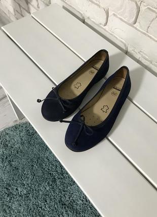 Кожаные туфли балетки geox