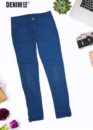 Узкие джинсы с молнией по бокам снизу co