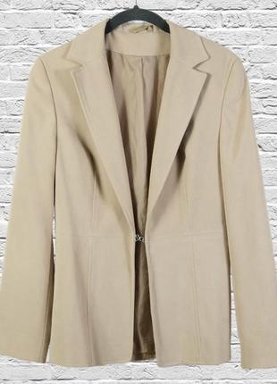 Уценка! бежевый пиджак приталенный, качественный пиджак бежевый