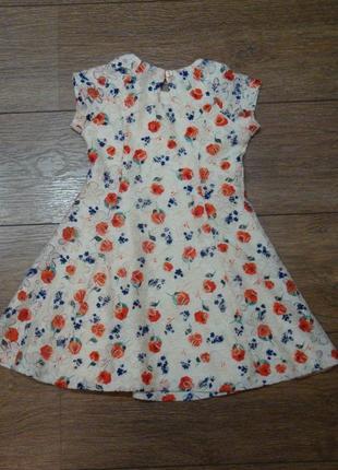 Красивое платье с цветами young dimension 4-5 лет3