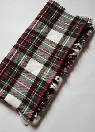 Трендовый шарф в клетку,красивый женский шарф,клетчатый платок шаль,обьемный шарф