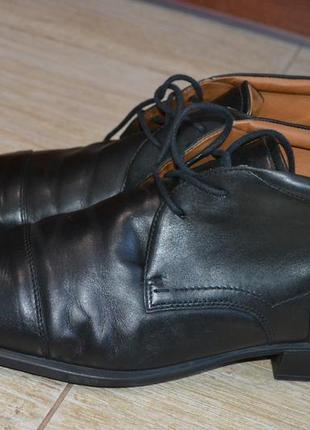 Ecco 47р ботинки кожаные, демисезон. оригинал.